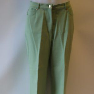ST. JOHN SPORT BY MARIE GRAY GREEN  PANTS 16S *